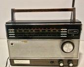 Vintage Longines Symphonette World Traveler Solid State AM FM Transistor Radio