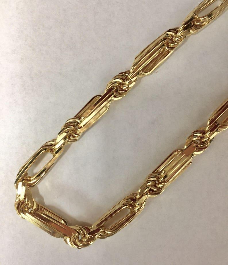 8ac5155aa99c Chapado en oro plata cadena de cuerda de MILANO XL para hombre