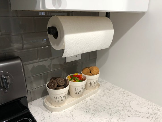 Paper Towel Holder Cleaning Holder Under Cabinet Paper Etsy