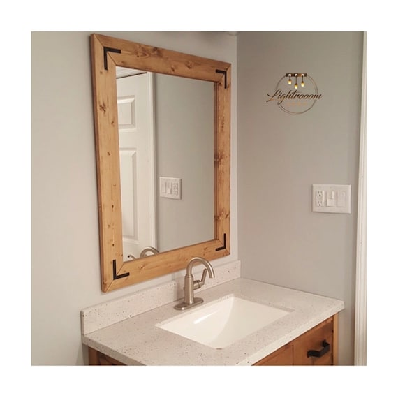 Special Walnut Mirror Brown Decor, Do You Have To A Special Mirror For Bathroom