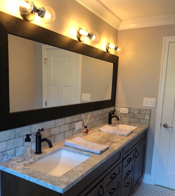 Custom Size Mirrors Mirror Bathroom Mirror Vanity Mirror Etsy