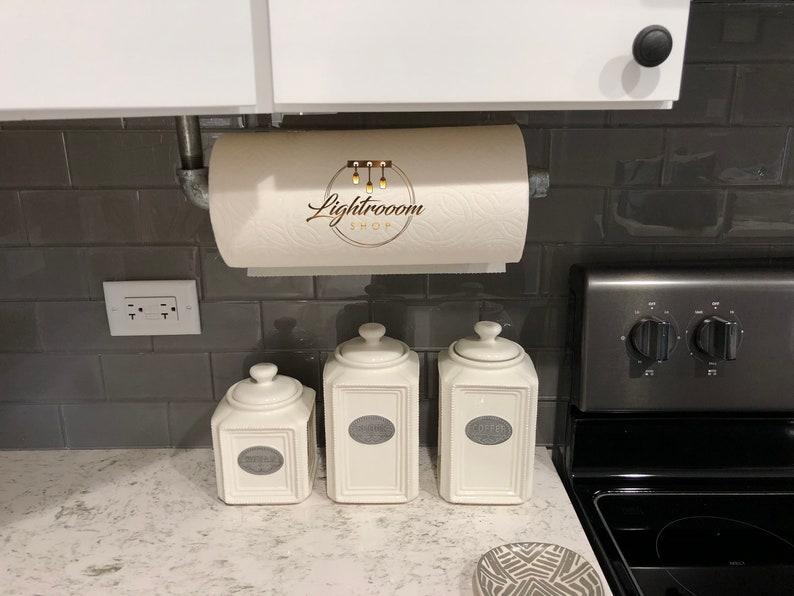 Paper Towel Holder Towel Rod Industrial Holder Under Cabinet Paper Fixture Garage Workshop Loundry Room Holder Kitchen Paper Towel