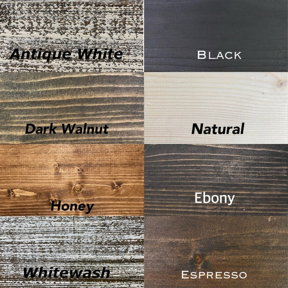 Sample Wood Stain Colors, Espresso Color Furniture