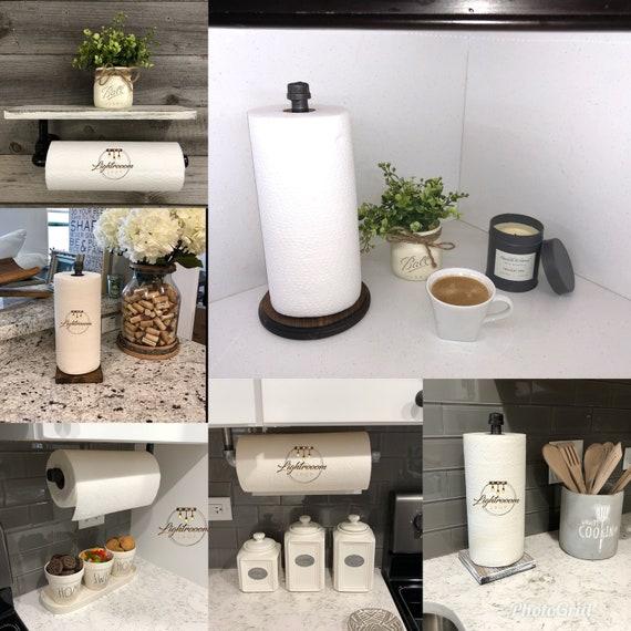 Ensemble industriel moderne salle de bain rustique ESPRESSO de 3 serviette  porte/WC papier support/crochet/cintre/porte/Pipe salle de ...
