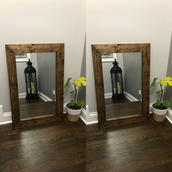 ESPRESSO Mirrors Cottage Mirror Set Double Mirrors Floor | Etsy