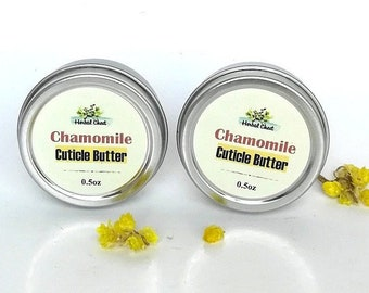 Chamomile Cuticle Cream with Cupuacu Butter - Nourishing Hydrating Natural Nail Dry Skincare - Gift for Knitters