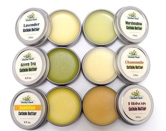 Cuticle Balm Buy 2 Get 1 Free, Nail Care Treatment Cream, Organic Cocoa Butter Beeswax Lotion, Gift for Knitter