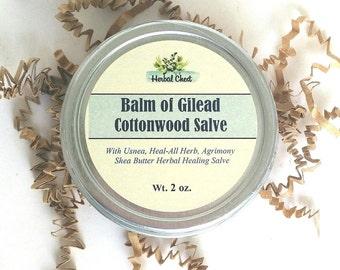 Balm of Gilead Herbal Healing Salve Cottonwood Buds Balm, Dry Sensitive Eczema Skin, Muscle Rub, Self Care Holistic Health, Anti Inflammory