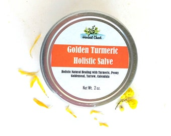Turmeric Salve, Tumeric Face Cream, Herbal Healing Balm, Ayurveda Skin Care, Wellness Holistic Health Self Care, Organic Goldenseal Yarrow