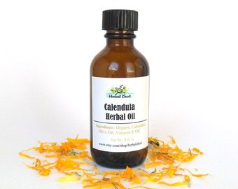 Calendula Oil for Eczema Psoriasis Natural Healing Herbal Remedies, Organic Flower Infused Baby Oil, Vagan Body Serum