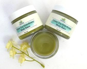 Matcha Green Tea Organic Shea Butter Body Balm, Anti Aging Lanolin Facial Moisturizer Cream, Antioxidant Natural Beauty Apothecary Skincare