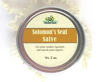 Solomon Seal Salve, Natural Herbal Pain Relief Healing Balm, Muscle Rub Nerve Pain Ease Cream, Arthritis Joint Chronic Pain, Holistic Health