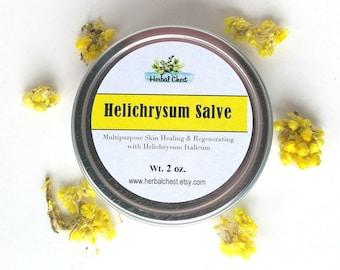 Helicrysum Oil Gotu Kola Herbal Healing Salve, Anti Aging Hydrating Face Moisturizer Cream,Natural Glow Organic Shea Butter Scar Beauty Balm