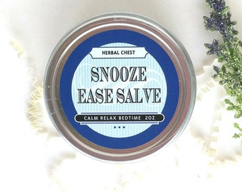 Sleep Aid Lavender Balm, Calm Soothing Salve, Relaxation Gift, Insomnia, Mindfulness Gift, Holistic Wellness Health, Self Care Apothecary