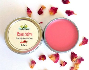 Rose Tinted Lip Balm, Clean Beauty Lip Gloss, Organic Shea Butter Moisturizer Favors, Bulk Gifts for Women, Eco Friendly Natural Skin Care