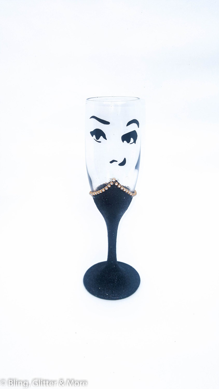 Breakfast At Tiffanys Glitter Champagne Glasses 30th Birthday For