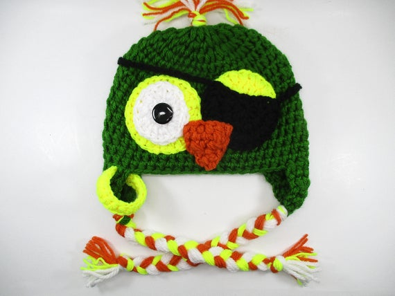 bébé perroquet chapeau chapeaux de garçons pirate perroquet   Etsy b0d168bf824