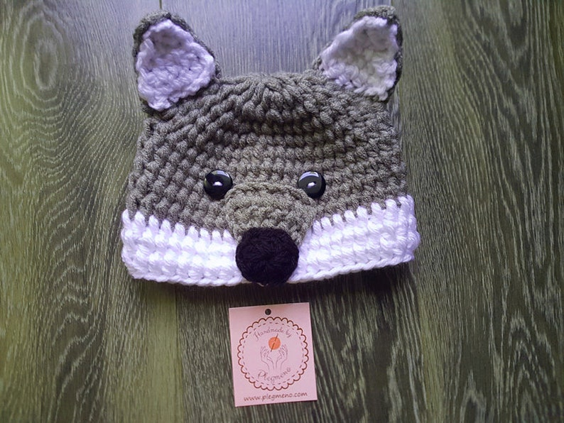 dbd2a2d6bb0 Boys hats Crochet Animal hat crochet hat wolf crochet hats