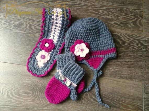 fa77341992e Crochet Hat and Scarf Set girls hat crochet baby girl hat