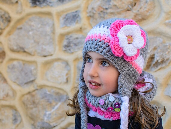 15eef61074c Crochet Hat and Scarf Set crochet scarf girls hat and scarf