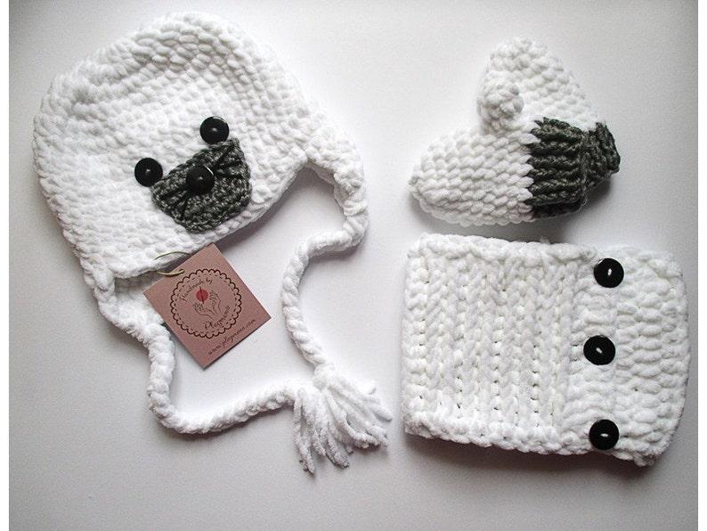 fd3e0c74faa Ganchillo gorro bufanda y guantes Set trajes de las niñas