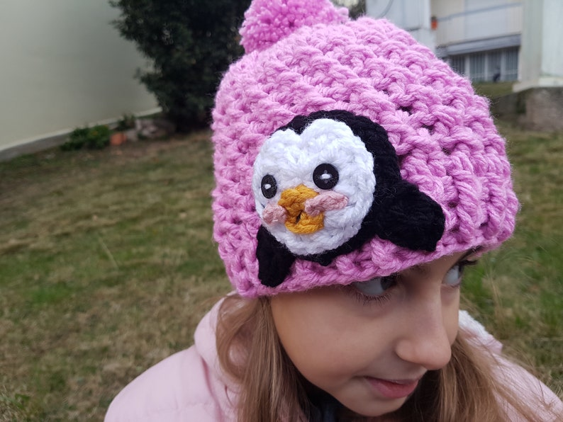 3eafa0fdfcc Penguin hat girls crochet hat Crochet animal Hat winter