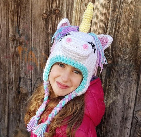 Einhorn Mütze Schal Tiermütze Unicorn Hat Einhornhut Faschingshut Einhorn Kostüm