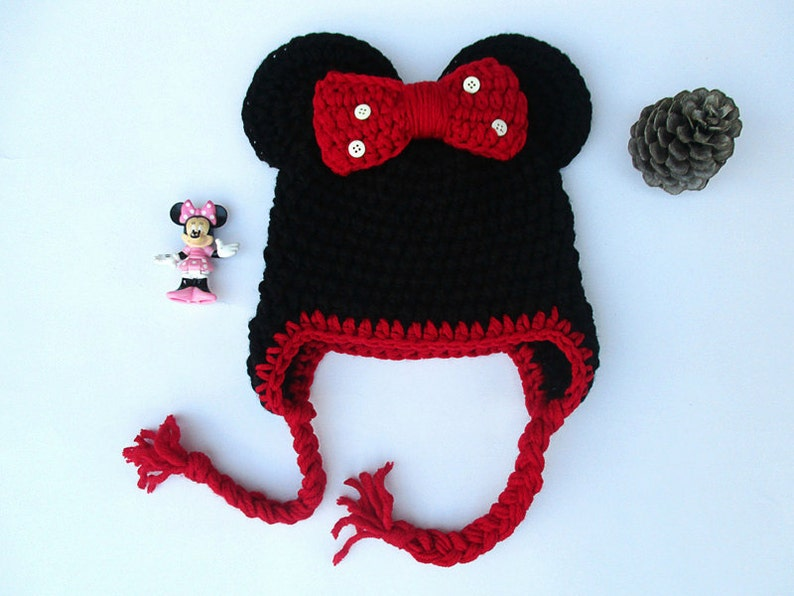 b0b0f869e87 Minnie mouse hat minnie mouse crochet hat disney hat animal