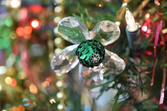 image 0 - Crystal Sequin Bead Flower Christmas Ornament Wholesale Etsy