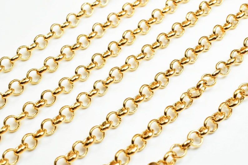 3.5mm Gold Filled Chain 18K GFC007 Sold by Foot