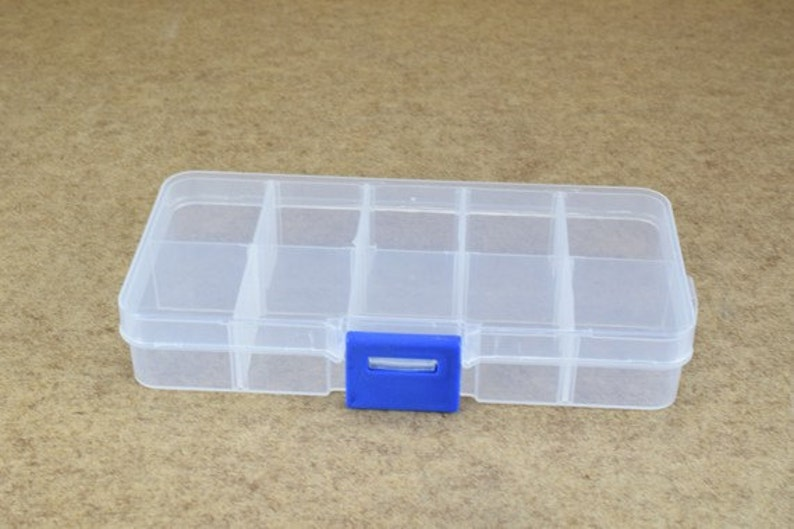 Plastic Storage Organizer Container Box Case 10 Compartments Etsy