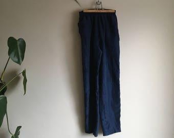 Vintage 100% Silk Drawstring Trousers