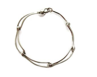 Sterling silver bracelet/stunning bracelet/Georg Jensen Style/unique bracelet/Jewelry Jewellery/Mothers Day/Wedding