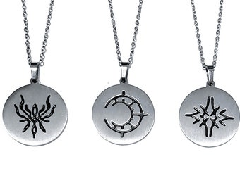 Fire Emblem Crest Necklace / Keychain Stainless Steel- Three Houses