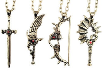 Fire Emblem Relic Weapons - Pins Necklace Keychain - 3 Houses - Byleth Dimitri Edelgard Claude Weapons