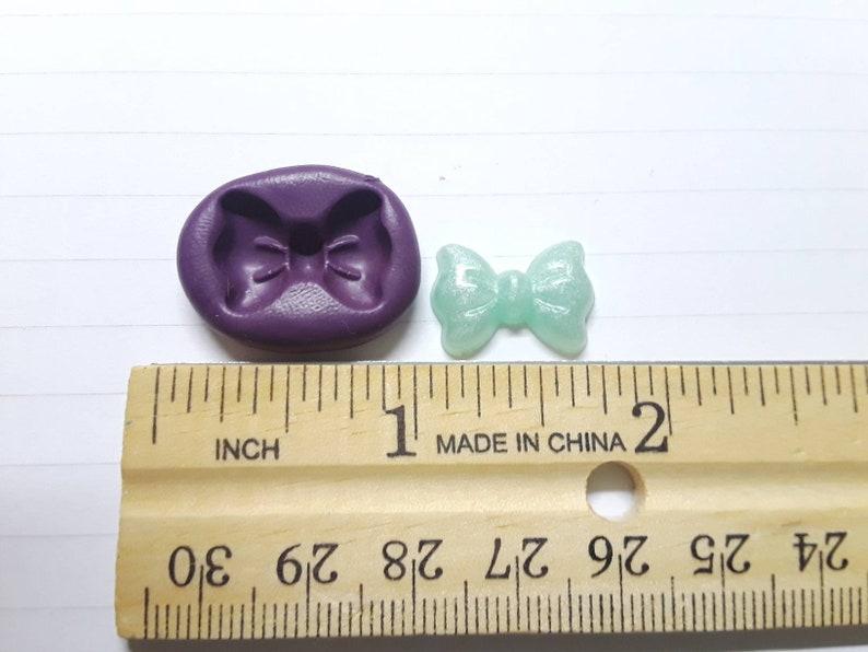 Mini Bow Mold For Polymer  Clay Clay Mold Tiny Bow Heat Safe Silicone Mold