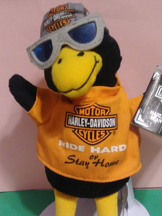 Harley Davidson Motor Cycles Ride Hard Beanie Duck  c8b51e2f1ee3