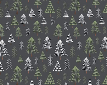 Available in 2 Patterns /& Colors Alpine Forest Fabric Tree Woods Winter Pine