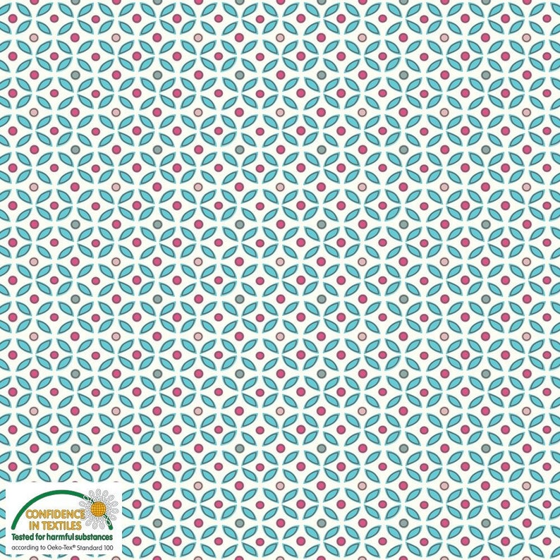 165502fc7c3 Flower Petal Geo AVALANA Jersey by STOF Fabrics 1/2 Yard | Etsy