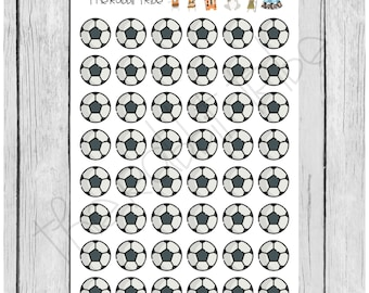 Mini Sticker Sheet - mini soccer ball icons - planner stickers