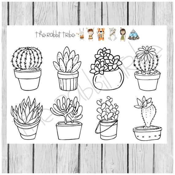 kleurplaat vakken vetplanten cactus kleurplaten kleuren in