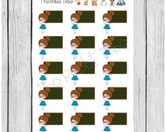Mini Sticker Sheet - mini teacher - planner stickers
