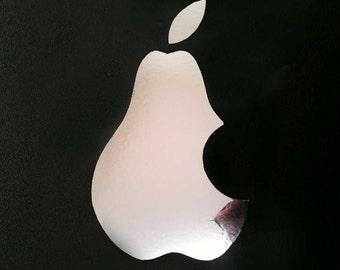 FUN STICKERS, pear, not apple, laptop decoration