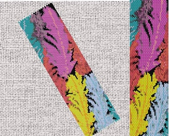 Feathers bracelet pattern, Peyote pattern, Peyote beading bracelet, Cuff bead pattern, Seed bead pattern, Miyuki Delica,PDF Instant download
