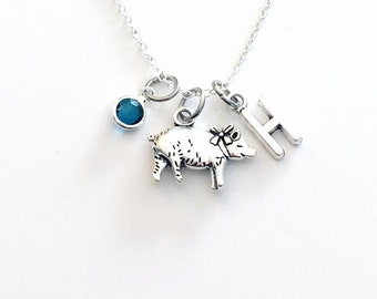 Pig Necklace, Piggy Jewelry, Gift for Farmer, Personalized Baby Animal Piglet, Farm Girl Boy, Chinese Zodiac Year of the 2019, Hog Farm her
