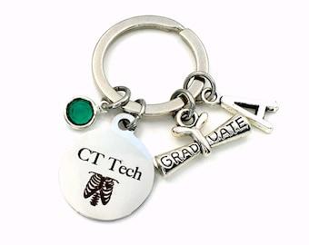 Graduation Gift for CT Tech Keychain / 2021 XRay Grad Key Chain / Radiologic technologist Keyring / CAT Scan Graduate Scroll Present