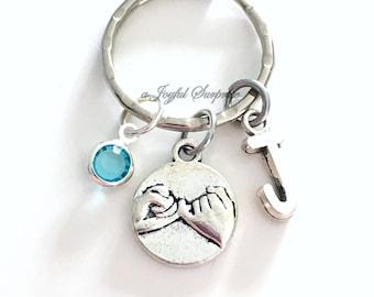 Pinky Swear KeyChain, Best Friend Promise Key Chain, Gift for BFF Keyring Wedding Party Bridal Bridesmaid Boyfriend Girlfriend custom girl