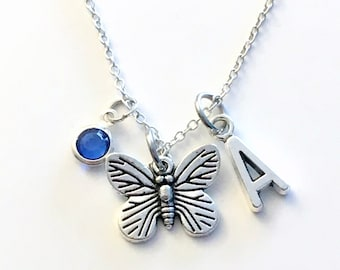 Butterfly Necklace, Butterflies Jewelry, Personalized Granddaughter Gift for Teenager Girl Birthday Present BFF Teenage Daughter Moth wings