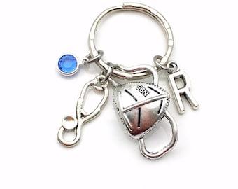 Medical Mask Key Chain / Graduation Gift for Medical Student Jewelry / Quarantine Replica N95 Mask Charm Keyring / Covid19 Keychain Present