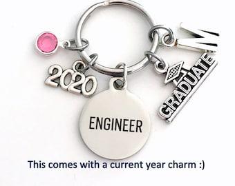 Graduation Present for Engineer Key Chain / 2021 Science Keychain / Engineer Grad Gift Keyring / Women Men Her Engineering Student Graduate